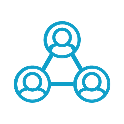 Techspert Icons Light Blue_Business-People - People in a network